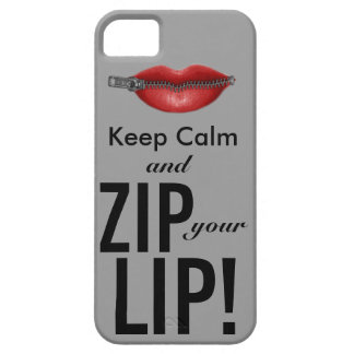 keep calm and zip your lip funny parody iPhone 5 cases