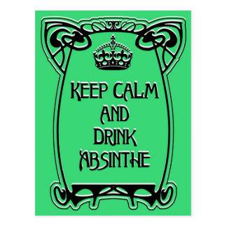 Keep Calm, Art Nouveau style Postcard