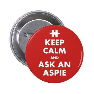 Keep Calm aspergers syndrome awareness Aspie Badge