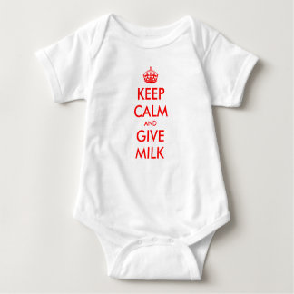 Keep Calm baby outfit | Keep calm and give milk Baby Bodysuit