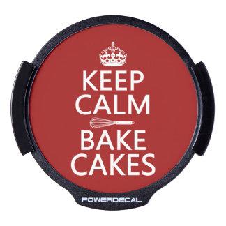 Keep Calm - Bake Cakes LED Car Decal
