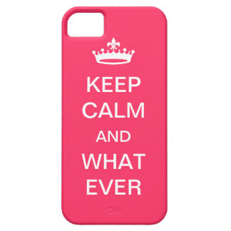 Keep Calm Barely There iPhone 5 Case