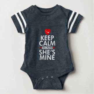 Keep Calm Because She is Mine T Shirt For Girls/W