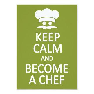Keep Calm & Become a Chef custom invitation