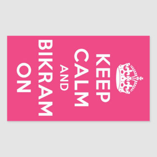 Keep Calm & Bikram On Sticker