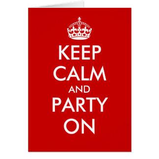 Keep calm birthday card Customizable design