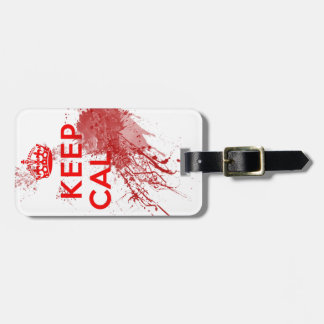 Keep Calm Bloody Zombie Bag Tag