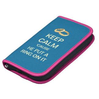 KEEP CALM Blue Pink Smartphone Wedding Planner