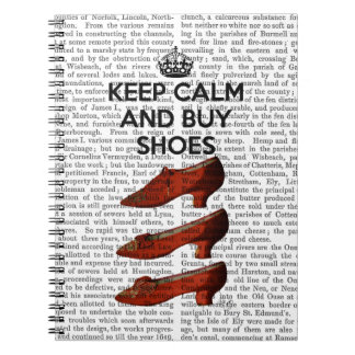 Keep Calm Buy Shoes Spiral Notebook