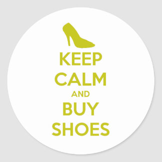 Keep Calm & Buy Shoes Sticker