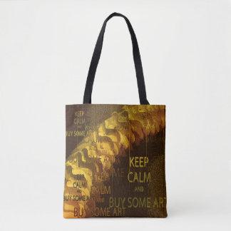 KEEP CALM & BUY SOME ART TOTE BAG