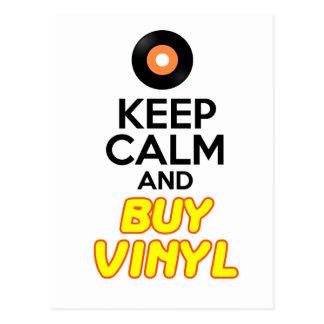 Keep Calm & Buy Vinyl Postcard