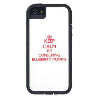 Keep calm by consuming Blueberry Muffins iPhone 5 Covers