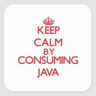Keep calm by consuming Java Stickers