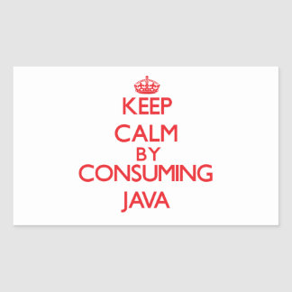 Keep calm by consuming Java Sticker