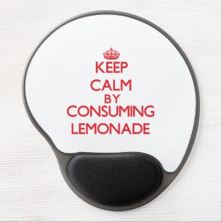 Keep calm by consuming Lemonade Gel Mousepads