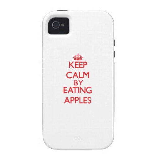 Keep calm by eating Apples Case For The iPhone 4