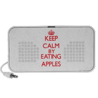Keep calm by eating Apples Notebook Speakers
