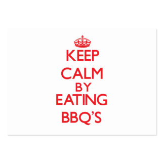 Keep calm by eating Bbq S Business Card Template