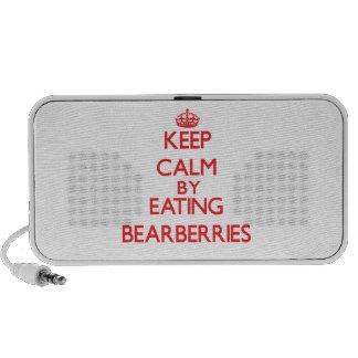 Keep calm by eating Bearberries iPod Speaker