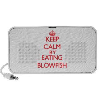 Keep calm by eating Blowfish iPhone Speaker