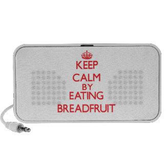 Keep calm by eating Breadfruit iPhone Speakers