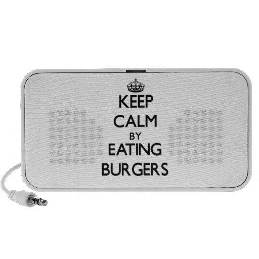 Keep calm by eating Burgers Travelling Speaker