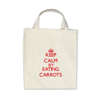 Keep calm by eating Carrots Canvas Bags
