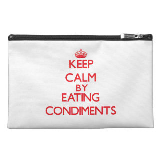 Keep calm by eating Condiments Travel Accessories Bag