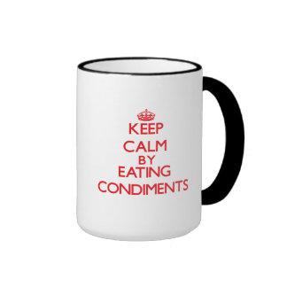 Keep calm by eating Condiments Coffee Mug