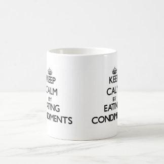 Keep calm by eating Condiments Basic White Mug