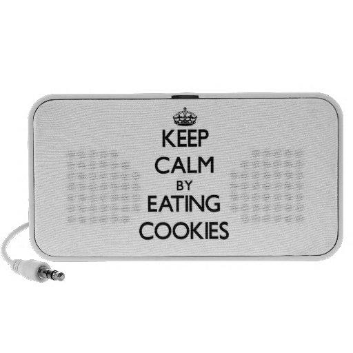 Keep calm by eating Cookies iPhone Speaker