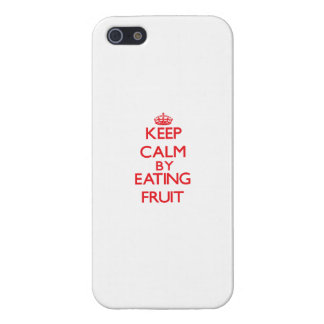 Keep calm by eating Fruit Case For iPhone 5/5S