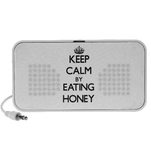 Keep calm by eating Honey Laptop Speakers