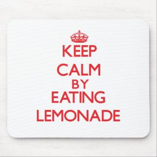 Keep calm by eating Lemonade Mousepads