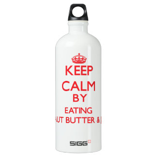 Keep calm by eating Peanut Butter & Jelly SIGG Traveller 1.0L Water Bottle