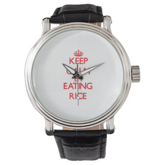 Keep calm by eating Rice Watch