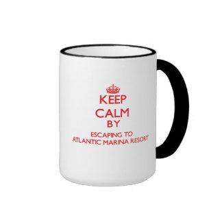 Keep calm by escaping to Atlantic Marina Resort Ma Ringer Mug