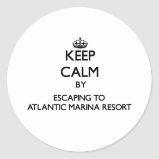 Keep calm by escaping to Atlantic Marina Resort Ma Stickers