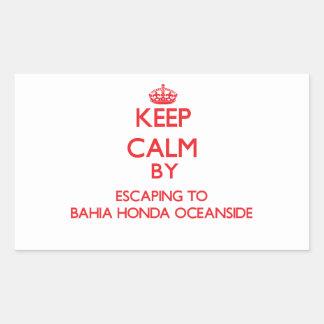 Keep calm by escaping to Bahia Honda Oceanside Flo Sticker