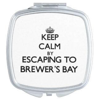 Keep calm by escaping to Brewer'S Bay Virgin Islan Vanity Mirror
