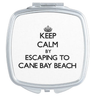 Keep calm by escaping to Cane Bay Beach Virgin Isl Makeup Mirror