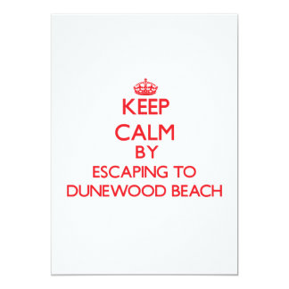 Keep calm by escaping to Dunewood Beach New York 13 Cm X 18 Cm Invitation Card