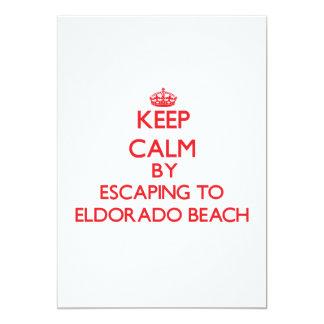 Keep calm by escaping to Eldorado Beach New York Personalized Invitation
