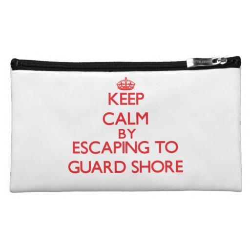 Keep calm by escaping to Guard Shore Virginia Cosmetics Bags