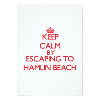 Keep calm by escaping to Hamlin Beach New York Custom Invitation