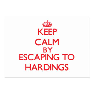 Keep calm by escaping to Hardings Massachusetts Business Card