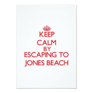 Keep calm by escaping to Jones Beach New York Custom Invites