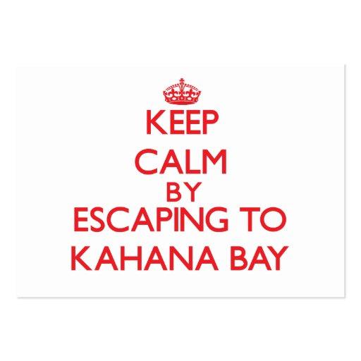 Keep calm by escaping to Kahana Bay Hawaii Business Card Template