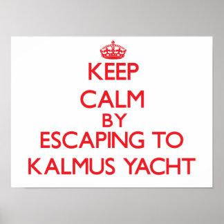 Keep calm by escaping to Kalmus Yacht Massachusett Print